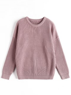Ribbed Chunky Sweater - Purple