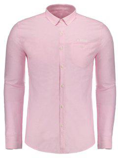 Flirting Graphic Button Down Shirt - Papaya 2xl