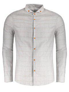 Chemise Boutonnée à Carreaux - Gris 2xl