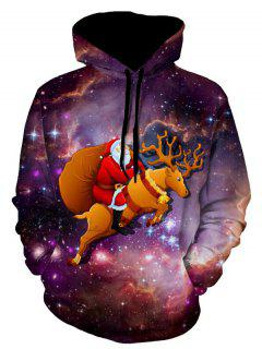 Christmas Eve Galaxy Christmas Hoodie - 3xl