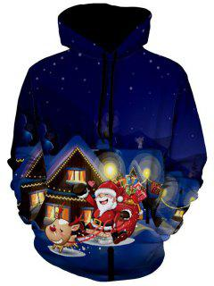 Santa Clause Christmas Eve Pullover Hoodie - L