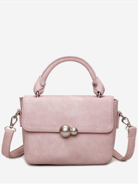fancy Metal Stitching Tote Bag - PINK  Mobile