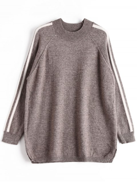 Pull Oversize à Rayures - Gris Taille Unique Mobile