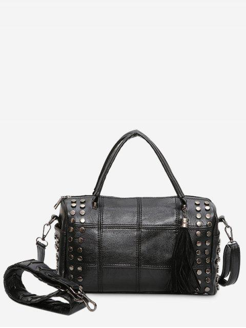 women Tassel Stud Quilted Tote Bag -   Mobile