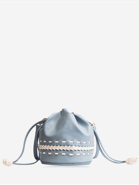 Sac à bandoulière Braid Drawstring - Bleu  Mobile