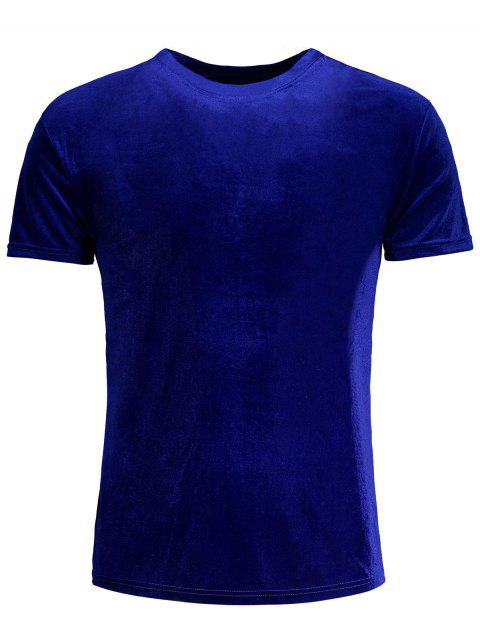 sale Short Sleeve Velvet Top -   Mobile