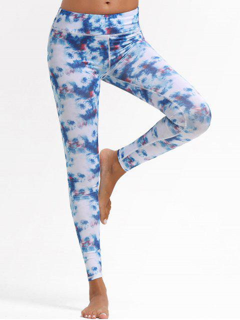 buy Tie Dye Workout Leggings - COLORMIX L Mobile