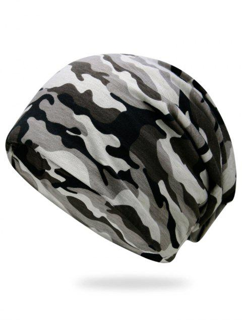 women's Outdoor Camouflage Pattern Slouchy Beanie -   Mobile