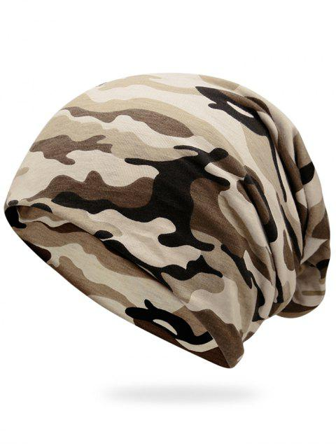 ladies Outdoor Camouflage Pattern Slouchy Beanie -   Mobile