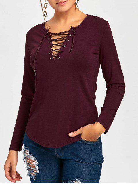 Tee-shirt à manches longues - Rouge vineux  L Mobile