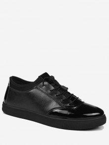 مشرق اللون التعادل حتى أدنى عارضة الأحذية - أسود 40