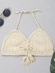 Haut De Bikini En Crochette Halter Tassel - Palomino