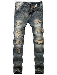 جينز ضيق بخصر عالي بنطلون  - أزرق 40