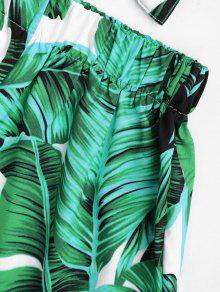 Sin Print S Tirantes Set Cortos Top Pantalones Y Leaves Verde qvEadEH