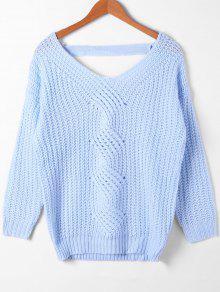 Cortar El Suéter De Punto De Cable - Azur M