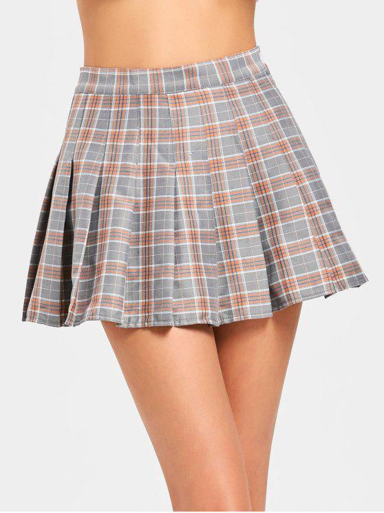 Hohe Taille Mini Checked Flare Rock - Kariert XL