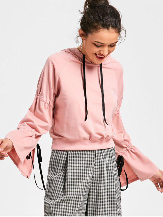 shops Slit Sleeve Hoodie - PINK ONE SIZE