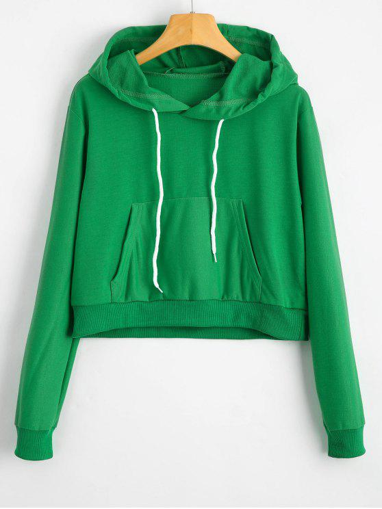 Women's Green Puma Cropped Hoodie   Life Style Sports  Green Cropped Hoodie