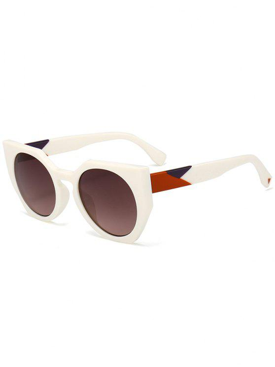 outfit Anti UV Full Frame Butterfly Sunglasses - TEA-COLORED