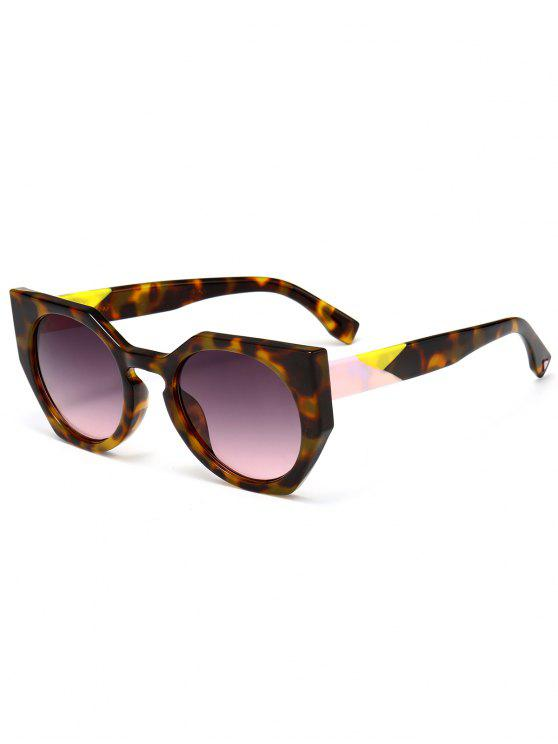 shops Anti UV Full Frame Butterfly Sunglasses - BROWN
