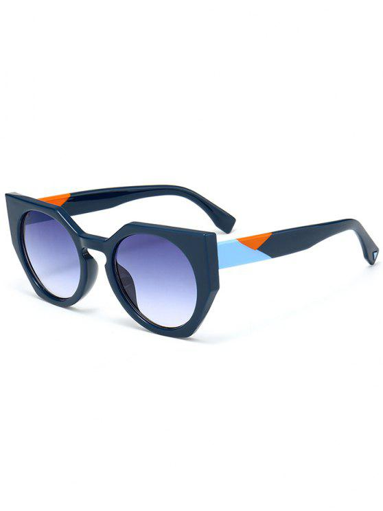 fashion Anti UV Full Frame Butterfly Sunglasses - BLUE