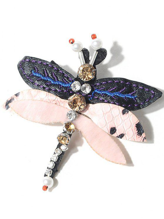 outfit Rhinestones Dragonfly Brooch - PINK