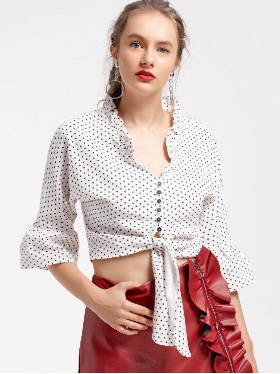 Blusa de punto de algodón - Blanco y Negro L