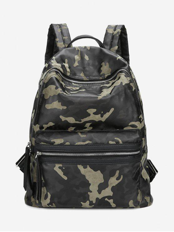 fancy PU Leather Camouflage Pattern Backpack - GREEN