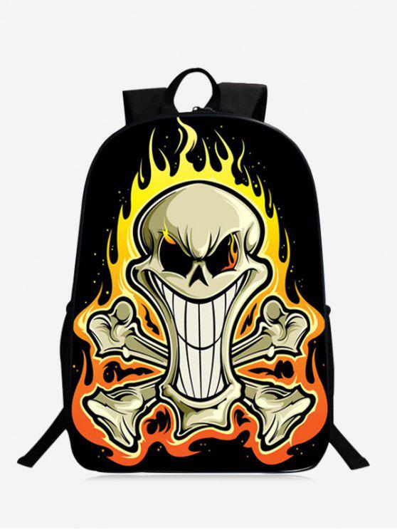 affordable Stylish Skull Backpack - YELLOW