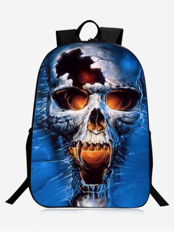 buy Stylish Skull Backpack - BLUE