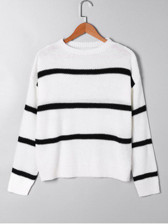 Maglione aperto a maglia a maglia - Bianco L