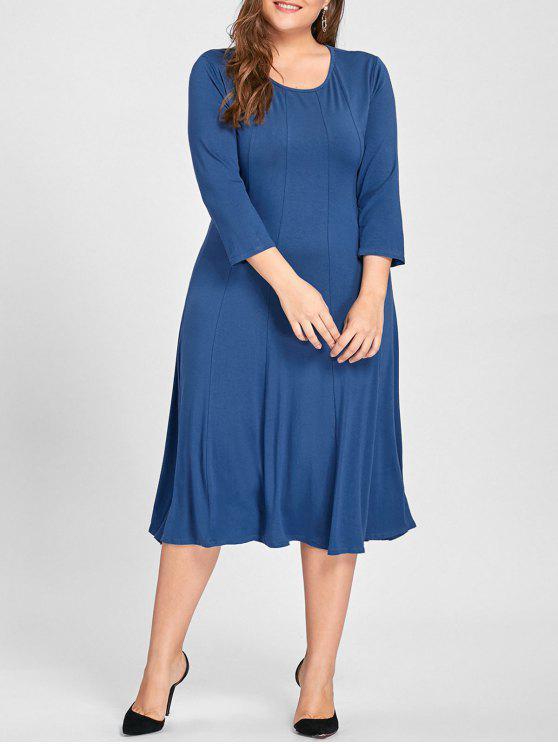 فستان ذو مقاس كبير - متوسطة الأزرق XL