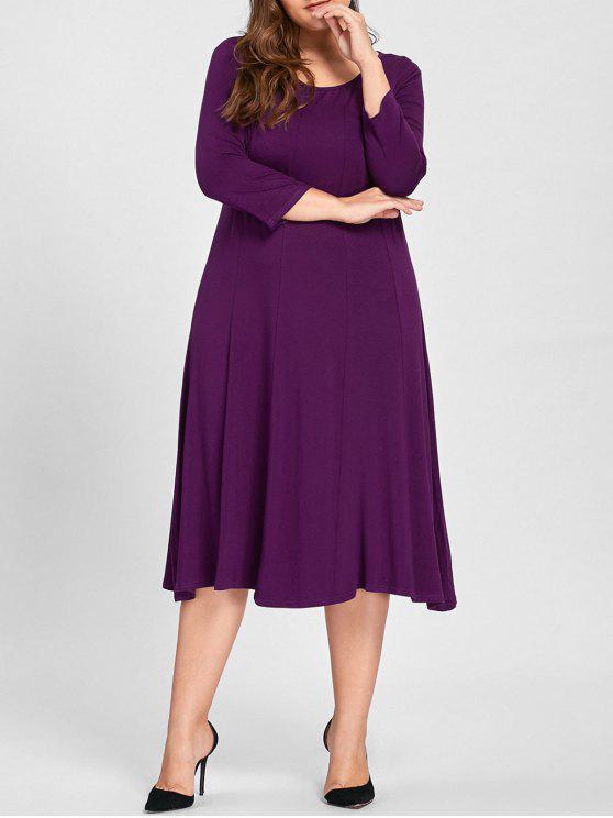 فستان ذو مقاس كبير - أرجواني XL