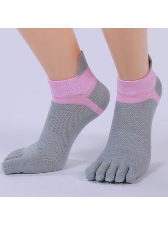الجوارب  خمسة أصابع اصبع القدم مزيج القطن الكاحل - اللون الرمادي