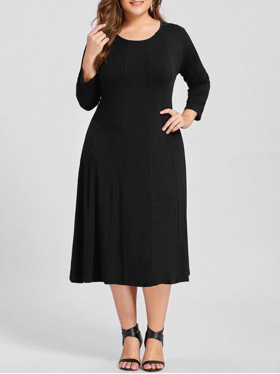 فستان ذو مقاس كبير - أسود 3XL