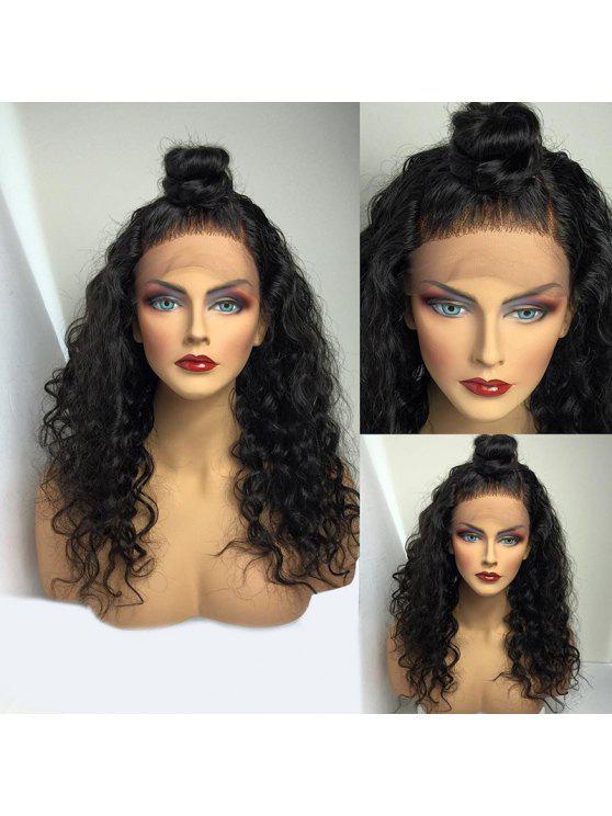 طويل الجزء الحرة منتفخ موجة المياه الرباط الجبهة شعر مستعار الإنسان - الأسود الطبيعي