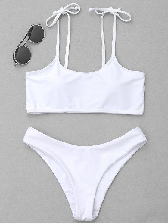 Bikini con bordo imbottito - Bianco S