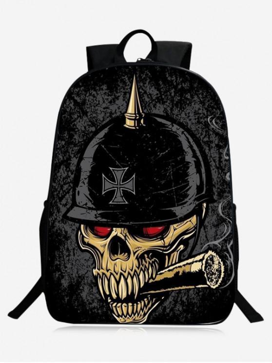 sale Stylish Skull Backpack - BLACK