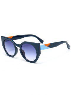 Anti UV Full Frame Butterfly Sunglasses - Blue