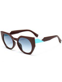 Anti UV Full Frame Butterfly Sunglasses - Blue Green