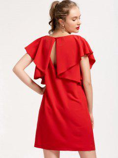 Mini Vestido De Manga Corta Flouncy - Rojo S
