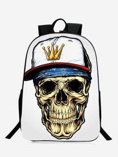 Stylish Skull Backpack - White