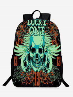 Stylish Skull Backpack - Green
