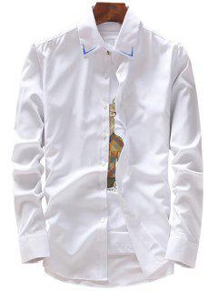 Chemise Débardeur à Manches Longues - Blanc Xl