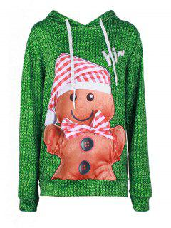 Kangaroo Pocket Christmas Baked Doll Hoodie - Green Xl