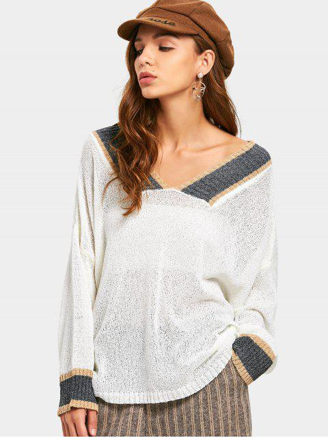 Top Semi-transparent Contrastant - Blanc TAILLE MOYENNE Mobile