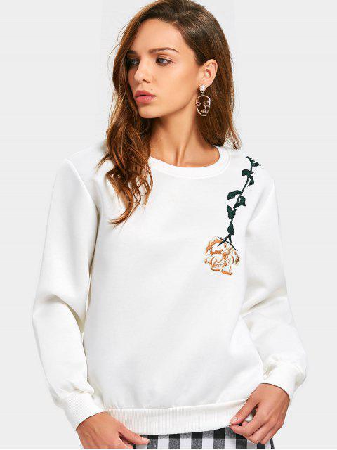 T-shirt à manches courtes à manches courtes - Blanc XL Mobile