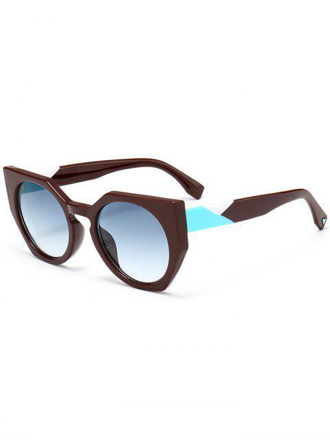 Gafas de sol anti UV de la mariposa del marco completo - Azul Verde  Mobile