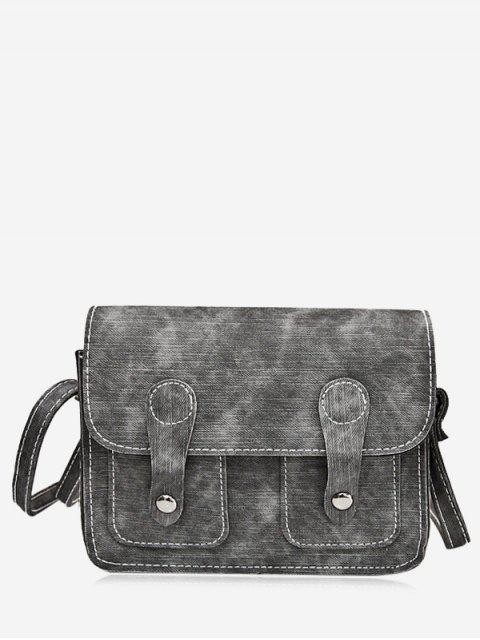 Sangle de boucles de couture Crossbody Bag - Gris  Mobile