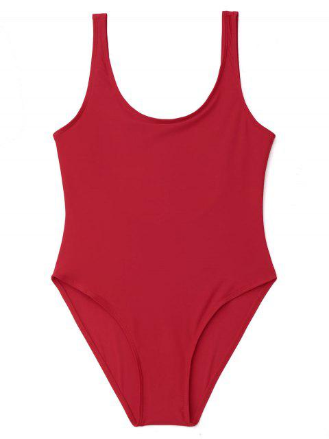 Traje de baño de una pieza U Back High Cut - Rojo M Mobile